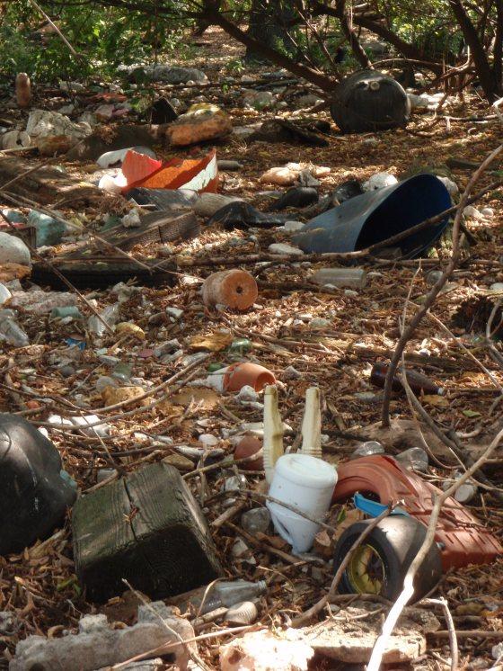 South Brother Island trash. Photo by Erik Baard.