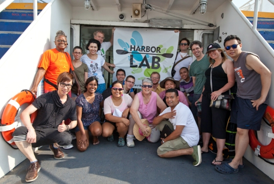 HarborLAB's morning crew of volunteers and supporters. Photo by Scott Sternbach.