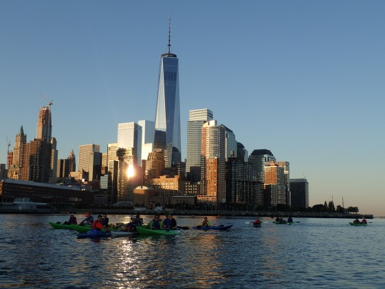 HarborLAB's overnight circumnavigation of Manhattan for the American Foundation for Suicide Prevention. Photo by Erik Baard.