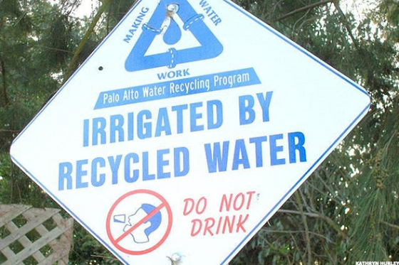 recyled-water-sign